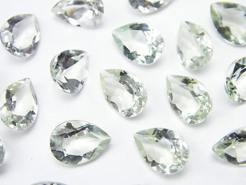 High Quality Green Amethyst AAA Undrilled Pear shape Faceted 11 x 8 x 5 mm 5 pcs $7.79!