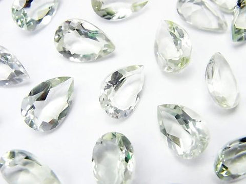 High Quality Green Amethyst AAA Undrilled Pear shape Faceted 12 x 8 x 4 mm 4 pcs $6.79!