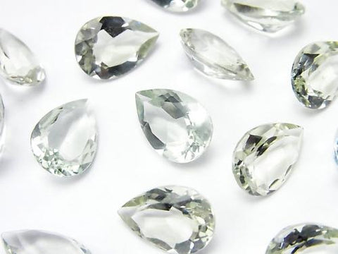 High Quality Green Amethyst AAA Undrilled Pear shape Faceted 13 x 9 x 5 mm 3 pcs $6.79!