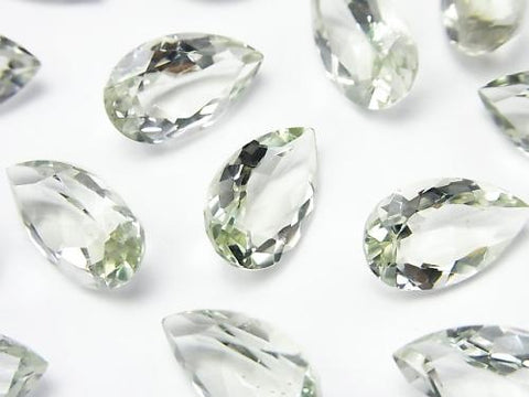 High Quality Green Amethyst AAA Undrilled Pear shape Faceted 15 x 9 x 5 mm 3 pcs $8.79!