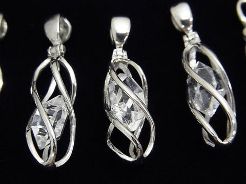 NYHerkimer Diamond AAA Rough Rock Nugget Pendant Silver 925 1pc $39.99!