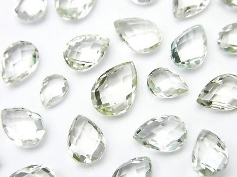 High Quality Green Amethyst AAA Undrilled Faceted Pear Shape 5pcs $14.99!