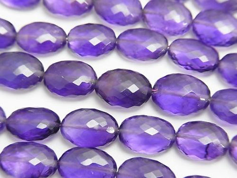 MicroCut!  High Quality Amethyst AAA+ Faceted Oval  half or 1strand (aprx.8inch/20cm)