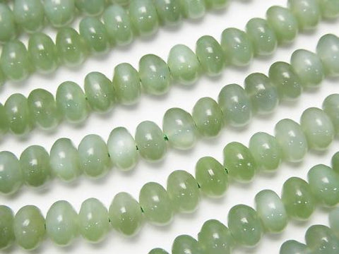 Russia Nephrite Jade AA + Roundel 6 x 6 x 4 mm half or 1 strand (aprx. 15 inch / 38 cm)