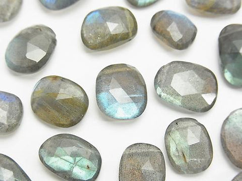 High Quality Labradorite AAA - Free Form Rose Cut 3pcs
