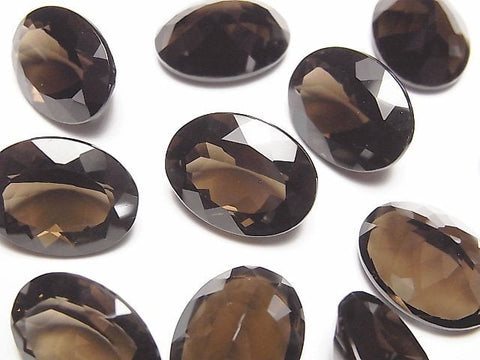 High Quality Smoky Crystal Quartz AAA Undrilled Oval Faceted 16x12mm 5pcs $22.99!