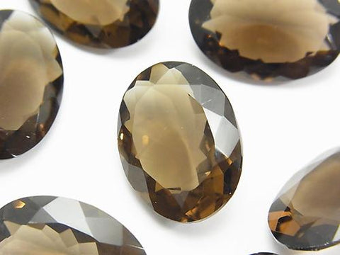 High Quality Smoky Crystal Quartz AAA Undrilled Oval Faceted 22x16mm 3pcs $23.99!