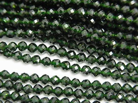 Diamond Cut! 1strand $5.79! Green Goldstone Faceted Round 3mm 1strand (aprx.15inch / 37cm)