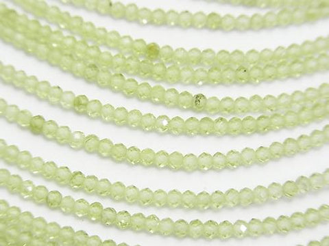 Diamond Cut!  1strand $6.79! Peridot AA++ Faceted Button Roundel 2x2x1.5mm 1strand (aprx.15inch/37cm)