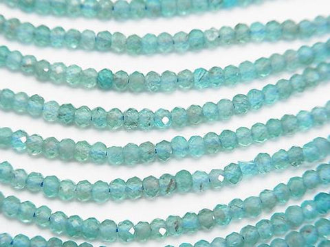 1strand $7.79! Diamond Cut!  Apatite AA++ Small Size Faceted Button Roundel 3x3x2mm 1strand (aprx.15inch/38cm)