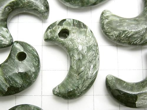 Seraphinite AA+ Comma Shaped Bead 30x20mm 1pc $9.79!