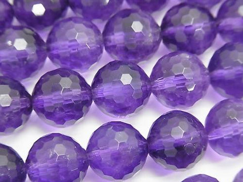 Diamond Cut!  Amethyst AAA- 128Faceted Round 12mm 1/4 or 1strand (aprx.15inch/37cm)