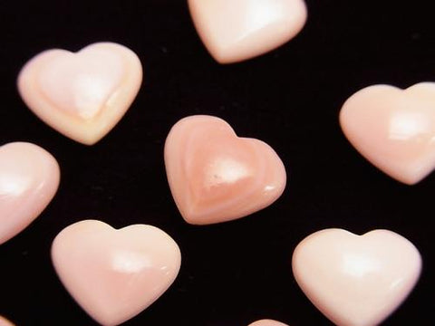 Queen Conch Shell AAA Heart 10 x 12 x 5 mm [Half Drilled Hole] 5 pcs $9.79!