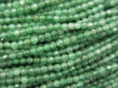 Diamond Cut! 1strand $5.79! Green Aventurine Faceted Round 2mm 1strand (aprx.15inch / 38cm)
