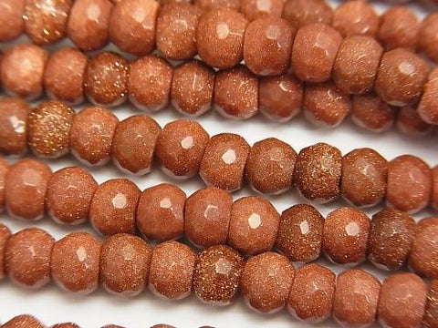 1strand $8.79! Golden Sand Stone Faceted Button Roundel 6x6x4mm 1strand (aprx.15inch/37cm)