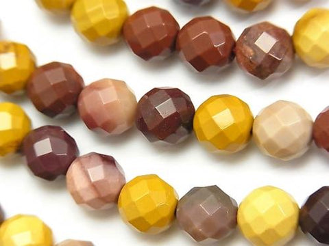 1strand $8.79! Mookaite  64Faceted Round 8mm 1strand (aprx.15inch/36cm)