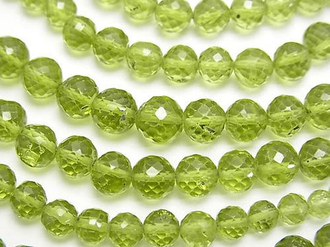 1strand $127.99! High Quality Peridot AAA- Faceted Round 3-7mm  1strand (aprx.15inch/38cm)