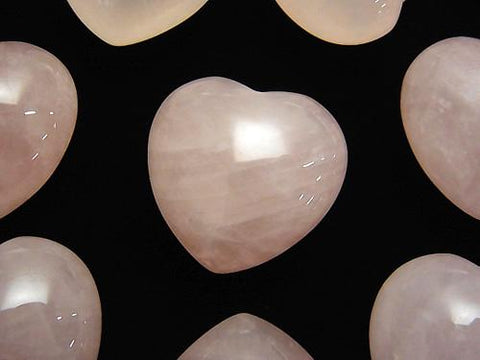 Rose Quartz AA ++ Undrilled Heart 19x20x12mm 3pcs $5.79!