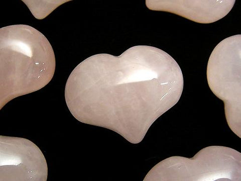 Rose Quartz AA ++ Undrilled Heart 20 x 25 x 12 mm 3 pcs $5.79!