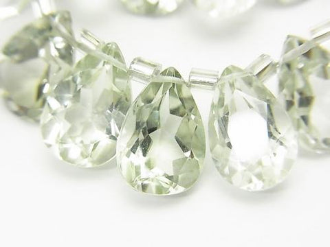 High Quality Green Amethyst AAA Pear shape Faceted 12x8mm 1/4 or strand (aprx.6inch / 16cm)