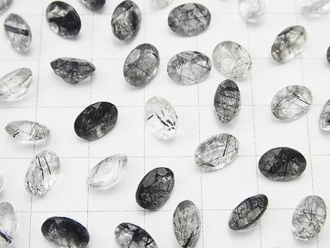 High Quality Tourmaline Quartz AAA Undrilled Oval Faceted 8 x 6 mm 5 pcs $6.79!