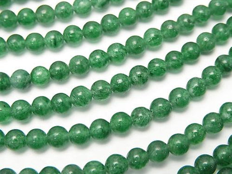 1strand $6.79! India Green Aventurine AAA Round 4mm 1strand (aprx.15inch / 38cm)