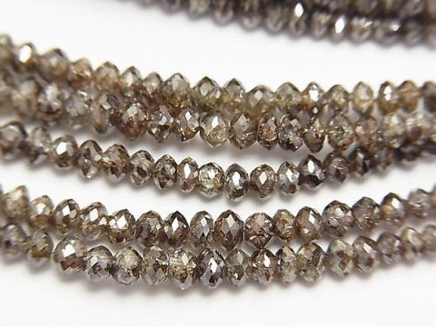 High Quality Brown Diamond Faceted Button Roundel 10pcs or 1strand (aprx.15inch / 38cm)