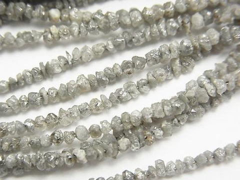 Gray Diamond Chips half or 1strand (aprx. 14 inch / 34 cm)