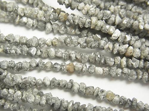 Gray Diamond Chips half or 1strand (aprx.15inch / 38cm)