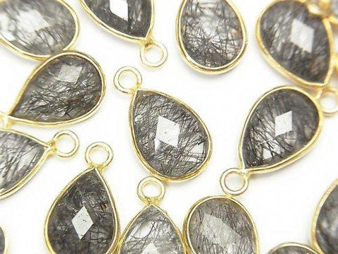 High Quality Tourmaline Quartz AAA Bezel Setting Faceted Pear Shape 13 x 9 mm 18 KGP 2 pcs $8.79!