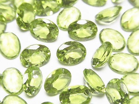 High Quality Peridot AAA Undrilled Oval Faceted 8x6x3.5mm 5pcs $9.79!