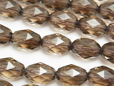 Diamond Cut!  Smoky Crystal Quartz AAA Triangle Faceted Rice 14x10x10mm 1/4 or 1strand