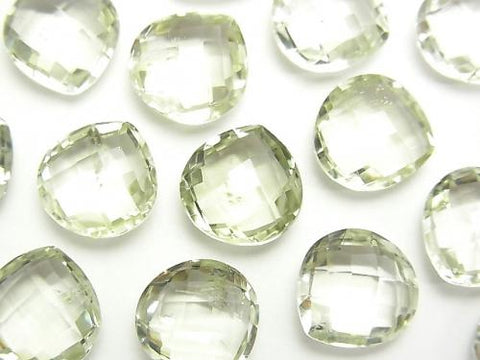 High Quality Green Amethyst AAA - AAA - Undrilled Chestnut Shape 12 x 12 x 6 mm 3 pcs $9.79!
