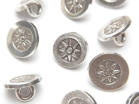 Karen Hill Tribe Silver Coin Charm with Sun Pattern (Concho) 10 x 10 x 6 mm NO.2 1pc $2.39!