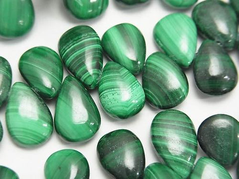 Malachite AA++ Pear shape (Smooth)  half or 1strand (aprx.7inch/18cm)