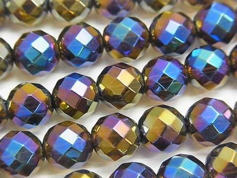 Flash Smoky Crystal Quartz 64Faceted Round 10mm half or 1strand (aprx.15inch / 38cm)