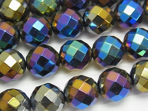Flash Smoky Crystal Quartz 64Faceted Round 12mm half or 1strand (aprx.15inch / 38cm)