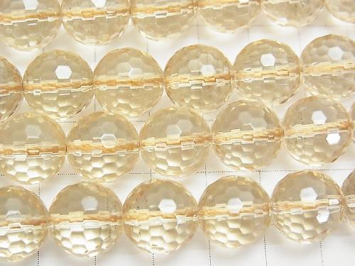 Champagne color Quartz AAA 128Faceted Round 12mm half or 1strand (aprx.15inch / 38cm)