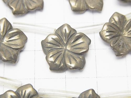 Golden Pyrite Flower 15x15x3mm half or 1strand (aprx.15inch / 38cm)