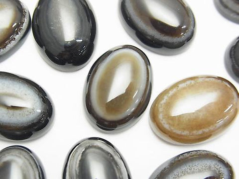 Tibet Agate (Eye Agate) Oval Cabochon 18x13mm 3pcs $3.79!
