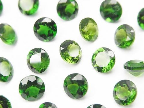 High Quality Chrome Diopside AAA Undrilled Brilliant Cut 6x6x4mm 1pc $9.79!