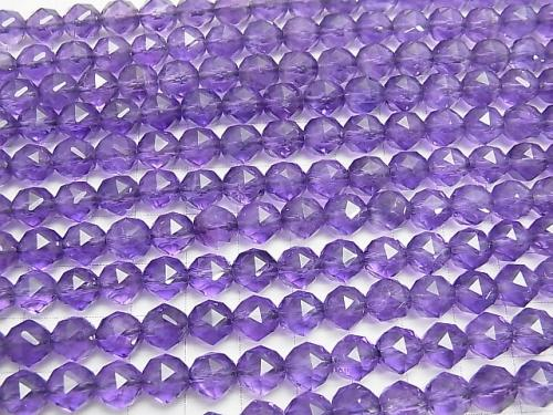 Amethyst AA ++ Star Faceted Round 8mm 1/4 or 1strand (aprx.15inch / 38cm)