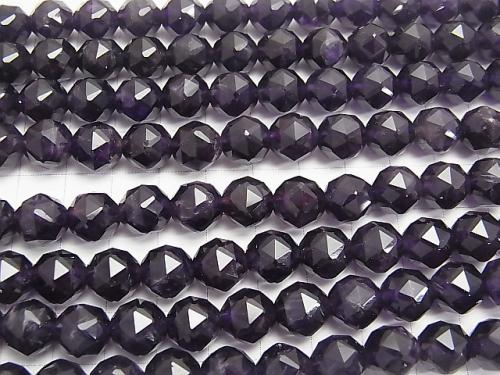 Amethyst AA ++ Star Faceted Round 10mm 1/4 or 1strand (aprx.15inch / 36cm)