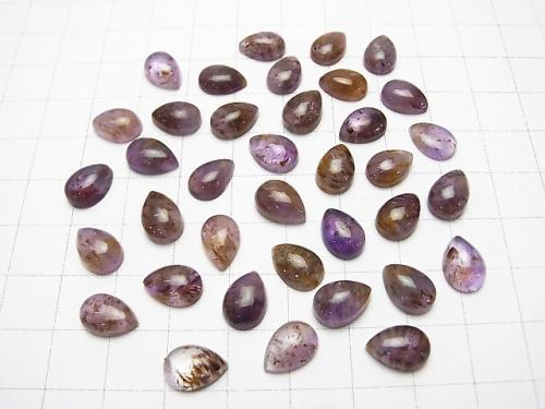 Cacoxenite  in Amethyst AA++ Pear shape Cabochon 10x7mm 3pcs $7.79!