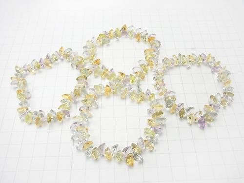 High Quality Mixed Stone AAA Oval  Faceted 9x7x4mm 8pcs ,1strand (Bracelet)