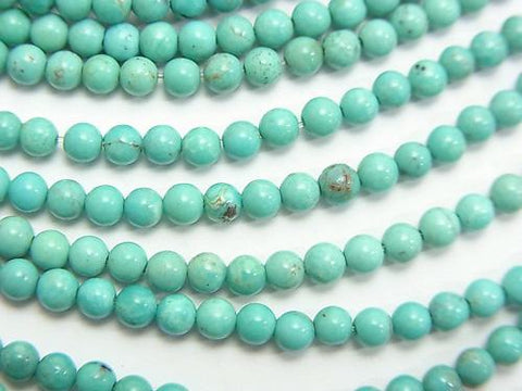 Turquoise AA++ Round 3mm half or 1strand (aprx.15inch/38cm)