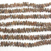 High Quality Chocolate (Brown) Moon Stone AAA Drop Faced Briolette half or 1strand (aprx. 7inch / 18cm)