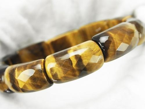 Yellow Tiger Eye AA ++ 2 Holes Faceted Rectangle 22x12x9mm 1strand (Bracelet) 1strand $13.99!