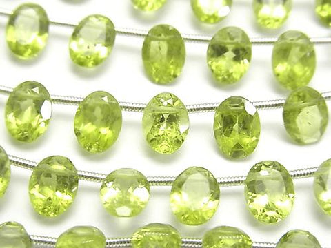 1strand $24.99! High Quality Peridot AA++ Oval  Faceted 8x6x4mm 1strand (21pcs )