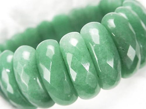 Green Aventurine 2 Holes Faceted Oval 25x9x8mm1strand (Bracelet)